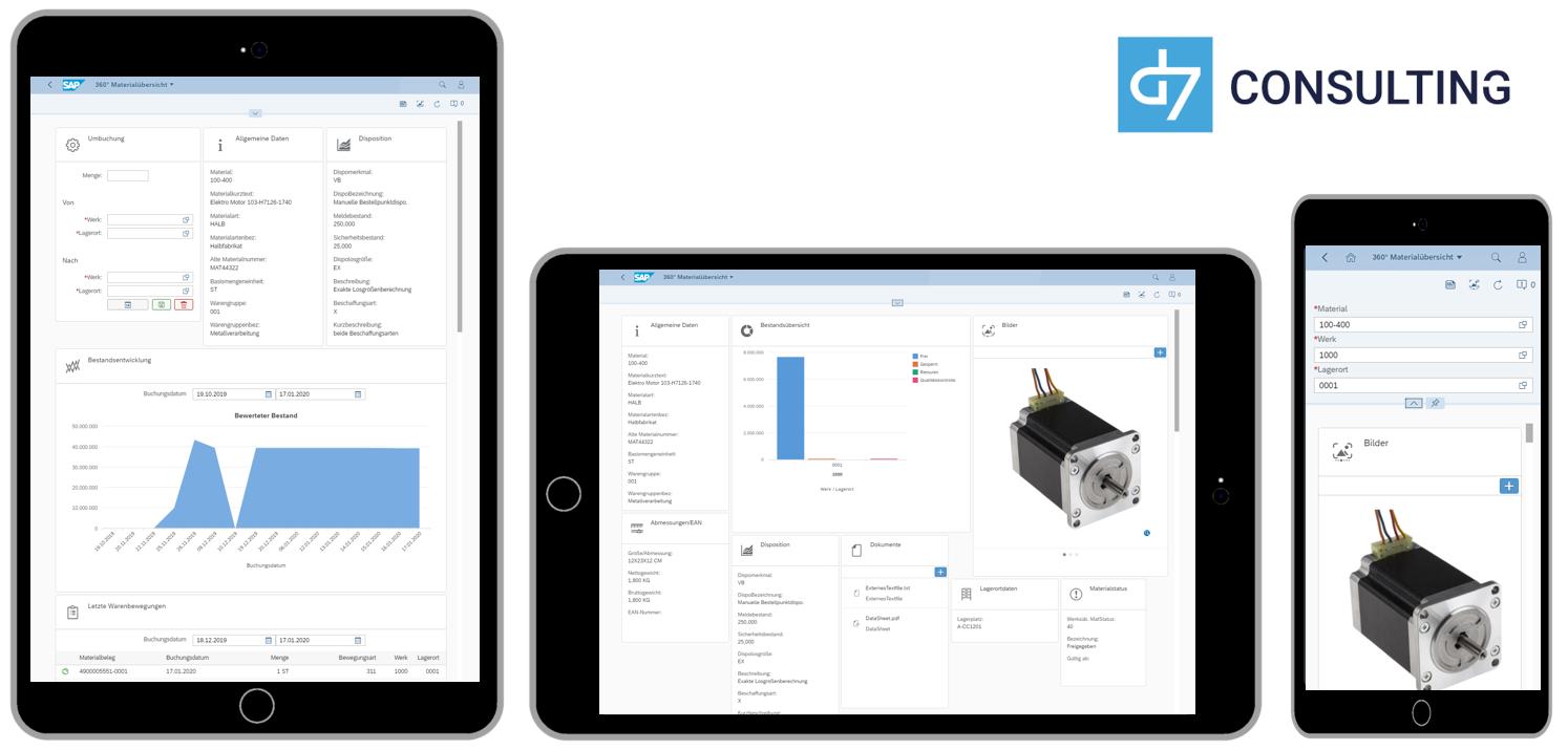 d7 SAP SAPUI5 App Mobile Material Overview SAP MM microservice