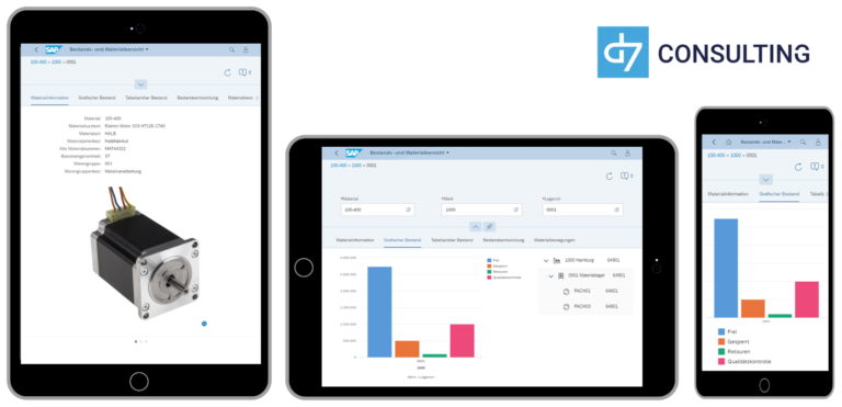 d7 SAP SAPUI5 App Mobile Material stock overview SAP MM microservice