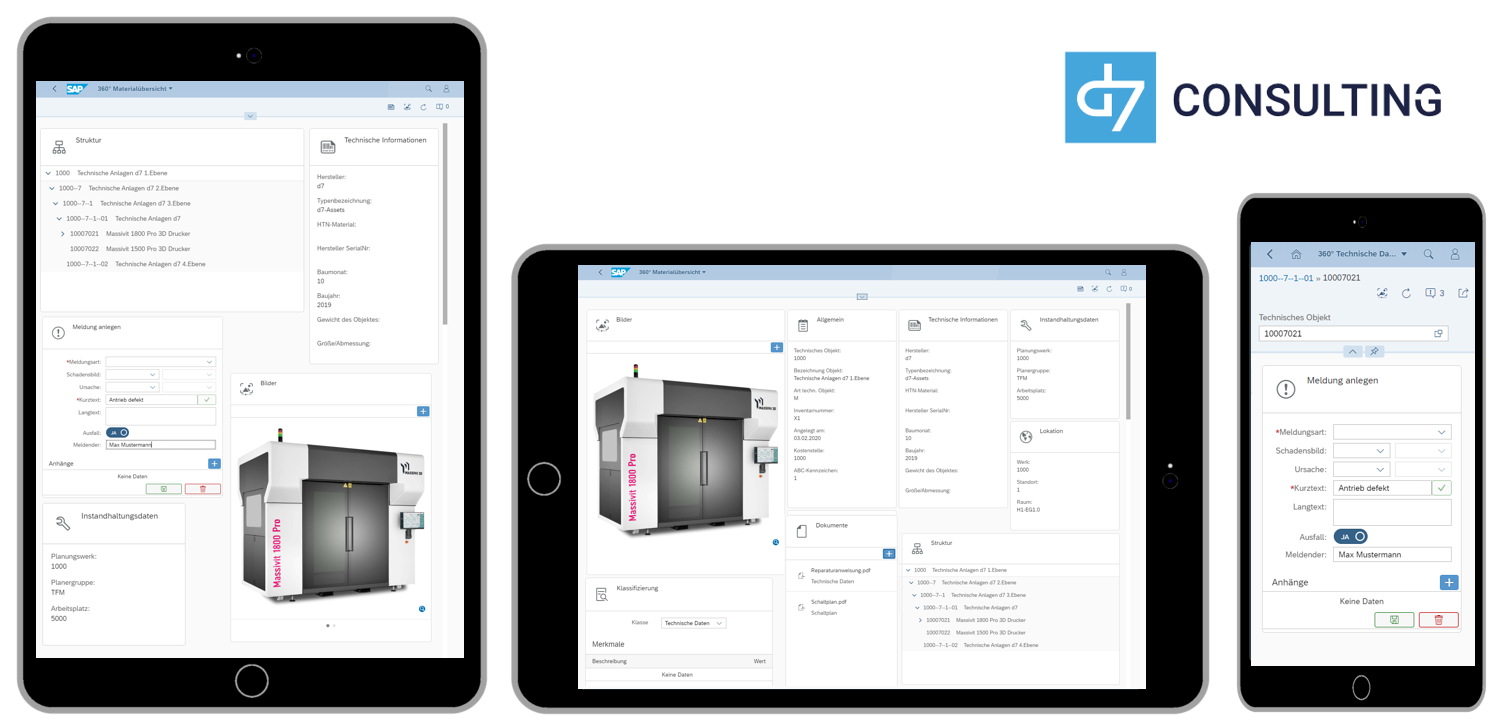 Mobile 360° Technical Data Overview for SAP PM / EAM