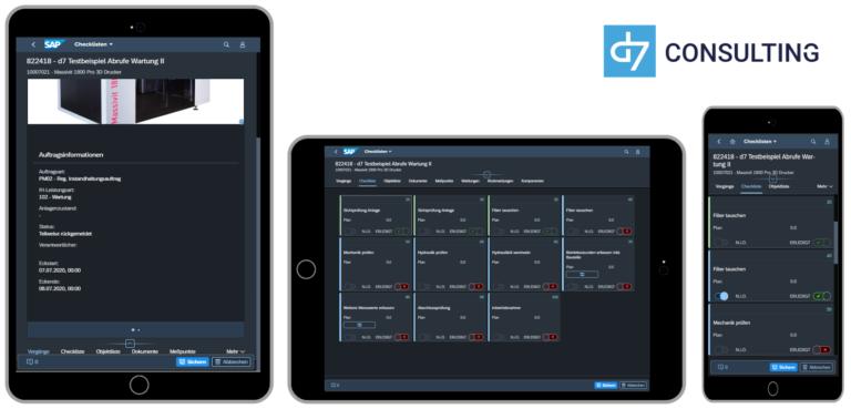 Mobile Digital Checklist for SAP PM / EAM Fioir 3.0 Dark Theme