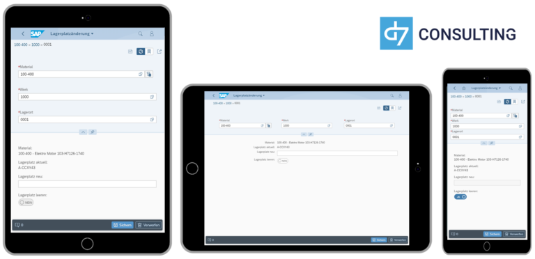 d7 App Mobile Material Storage Bin Change SAP MM microservice