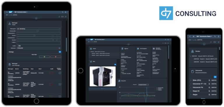 Mobile 360° Technical Data Overview for SAP PM / EAM Fiori 3.0 Dark Theme