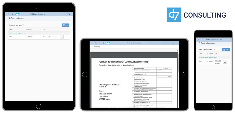 d7 App HR Bescheinigungen
