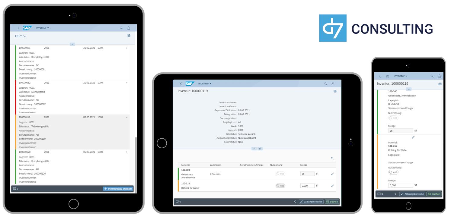 d7 SAPUI5 App: Mobile Inventur für SAP MM