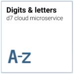 d7 cloud microservice Optische Erkennung Buchstaben, Ziffern, Zeichen