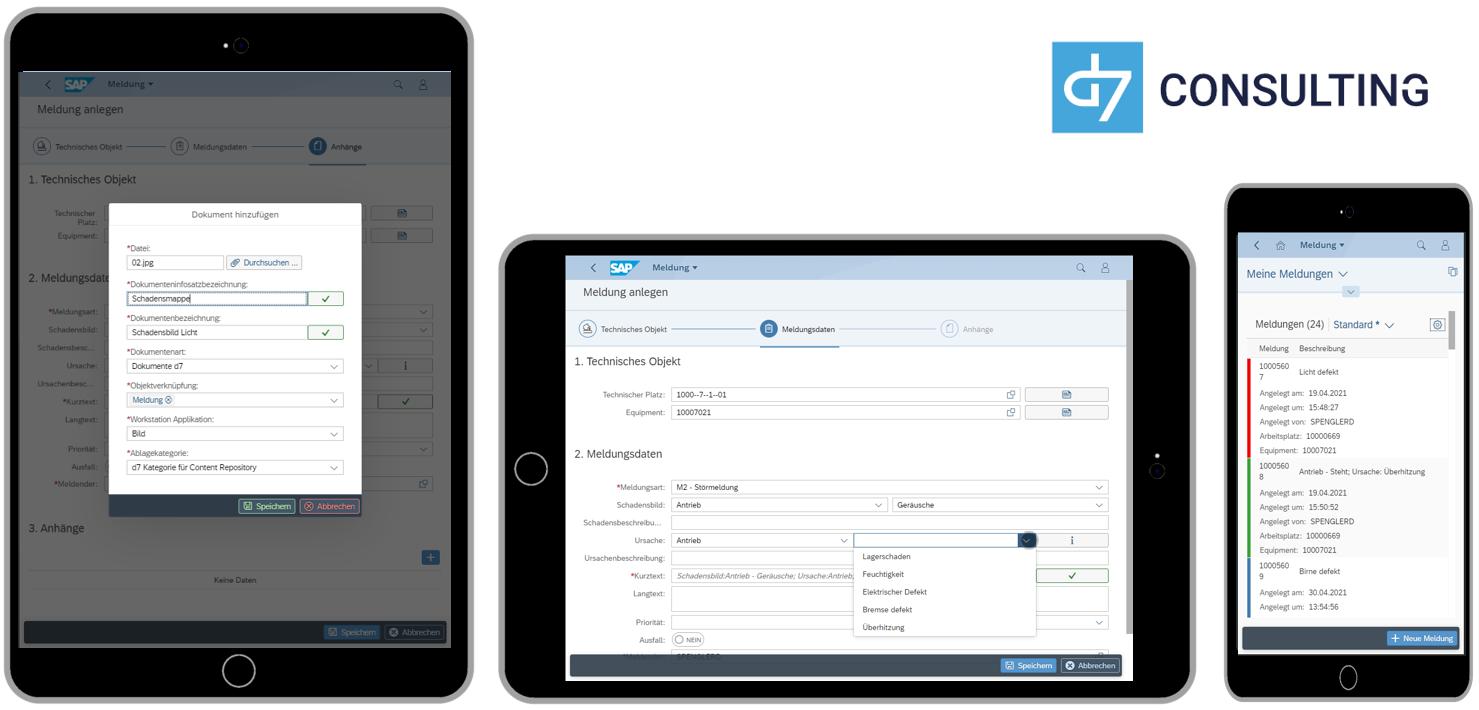 d7 App Digitale Meldungen Fiori